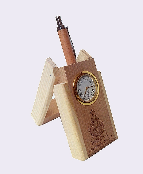 Pen Holder with Clock and Pen