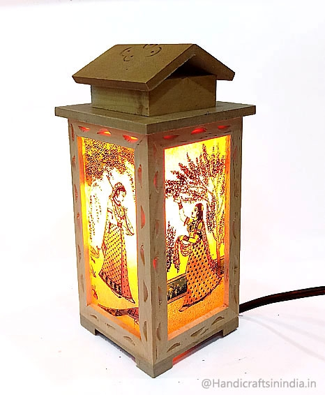 "Beautiful Carving Lamp 7"" inch"