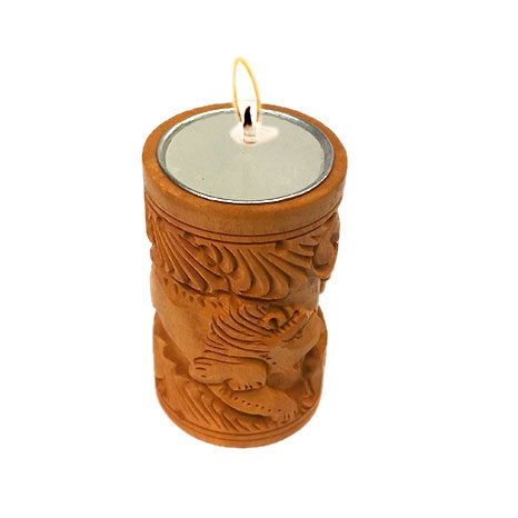 Hand Carved Candle Holder