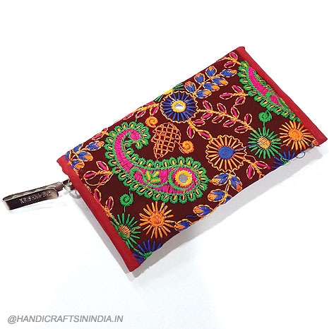Embroidery Pouch Purse
