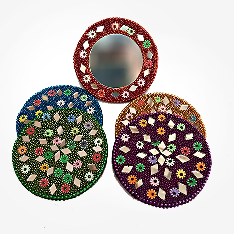 Lac Round Shaped Mirror - Pack of 5pc
