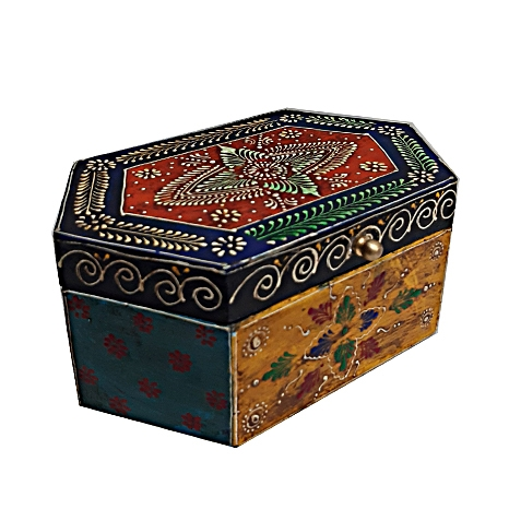 Elegant Wooden Painted Box