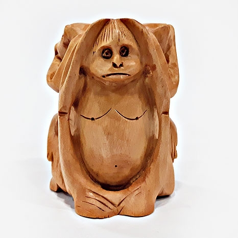 Wooden Round Monkey Set