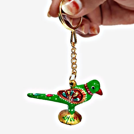 Metal Parrot Keychain - Pack of 6pc