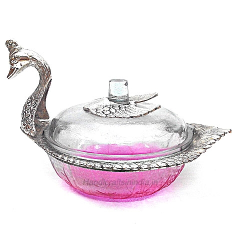 Duck Glass Bowl with Lid