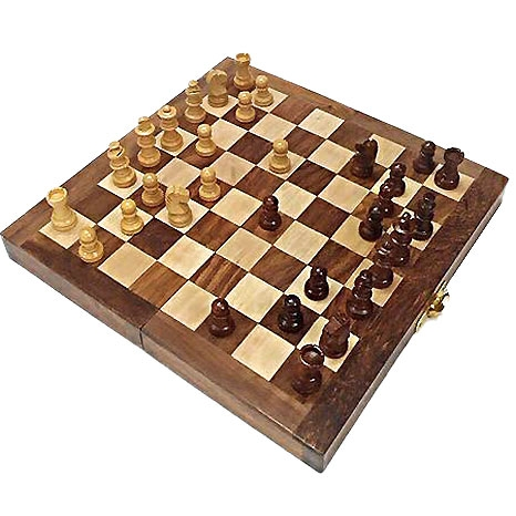 Wooden Chess Set 8 x 8 Inch
