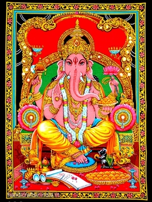 Lord Ganesh Tapestry Wall Hanging