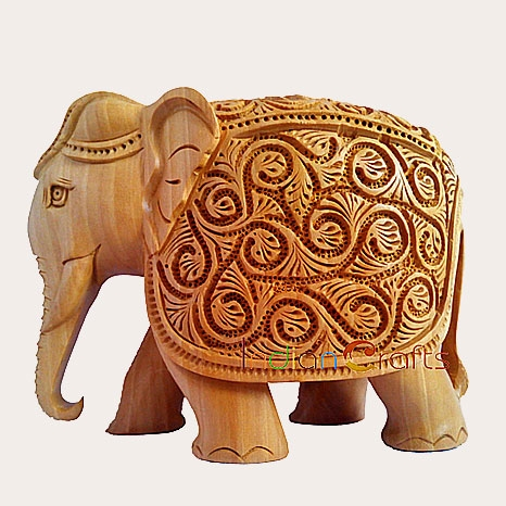 Carving Elephant Figurine