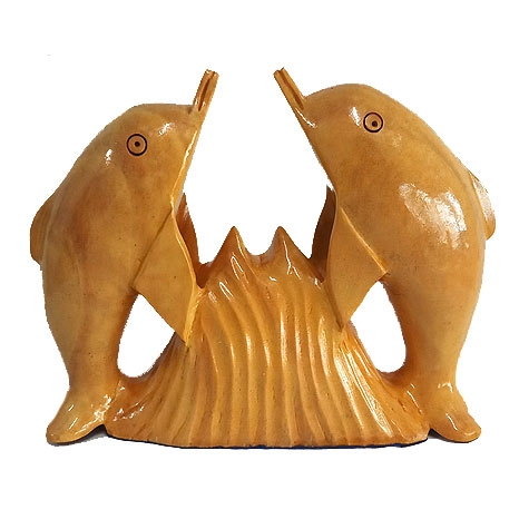 Wooden Carved Dolphins
