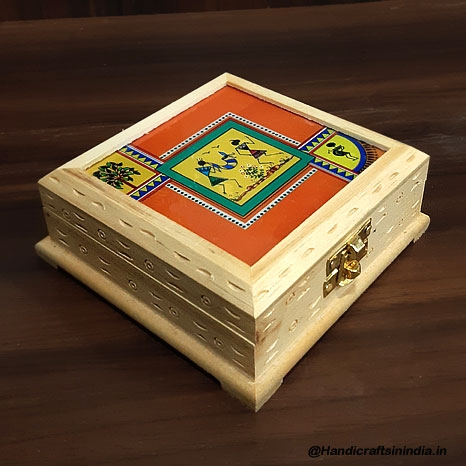 Warli Painted Wooden Box