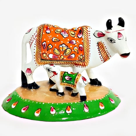 Meenakari Cow and Calf