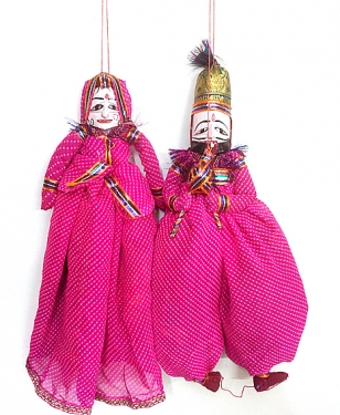 Rajasthani Puppets Pair