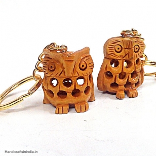 Wooden Owl Key chain