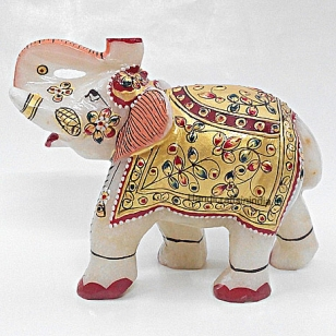 Marble Painted Elephant