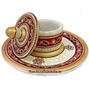 Marble Box with round Tray