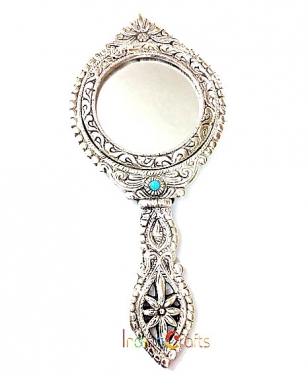 Hand Mirror in Metal