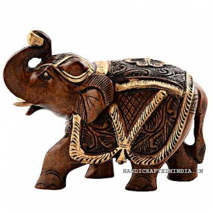Wooden Salami Brown Elephant