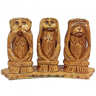 Carving Monkey Set - 3 Wise