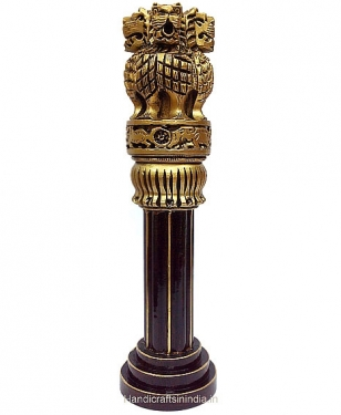 Wooden Painted Ashoka Pillar