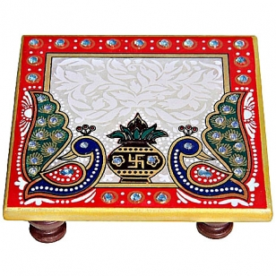 Marble Chowki - Pack of 2pc