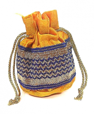 Yellow Potli Bag