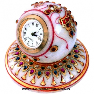 Marble Jewellery Painted Clock