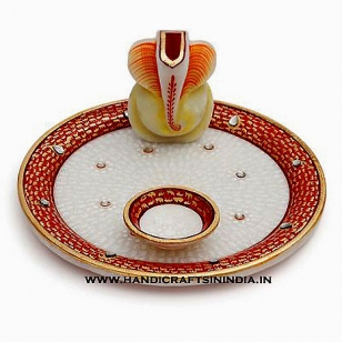 Marble Decorative Puja thali