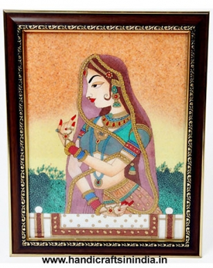 Gemstone Bani Thali Painting