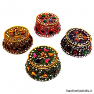 Lac Sindoor box decorated - Pack of 6pc