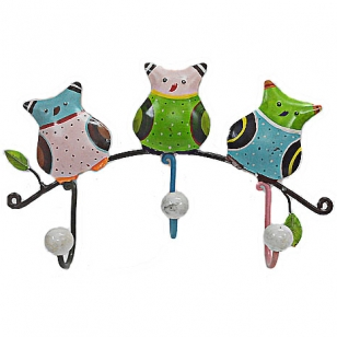 Bird Three Hook Cloth Hanger