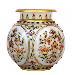 Marble Painted Matki Pot