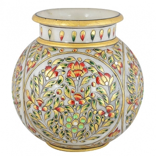 Marble Painted Round Pot 5 inch