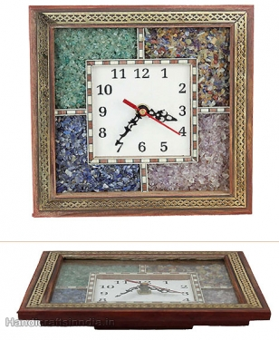 Gemstone Wooden Clock