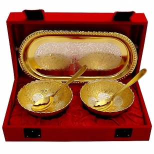Gold & Silver Plated Bowls Gift Set