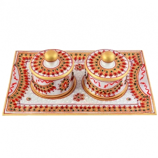 Decorative Marble Tray Set