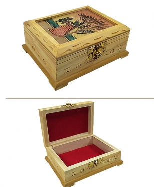 Wooden Gem Painting Jewelry Box