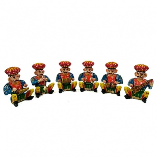 Wooden Musician Set of 6pc