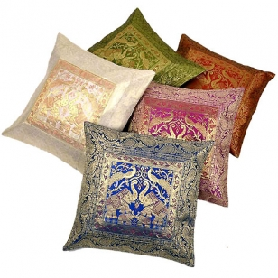 Embroidery Silk Cushion Cover Set of 5pc