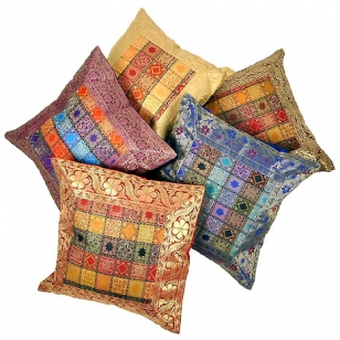 Brocade Silk Cushion Cover set of 5pc