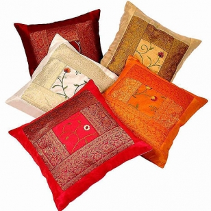 Silk Cushion Cover Set of 5pc