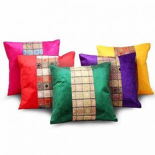 Silk & Velvet Cushion Cover Set of 5pc