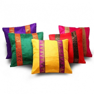 Velvet Cushion Cover Set of 5pc