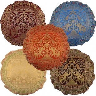 Designer Round Cushion Cover set of 5pc
