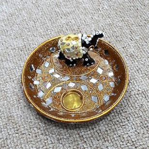 Lac Mirror Work Incense Holder
