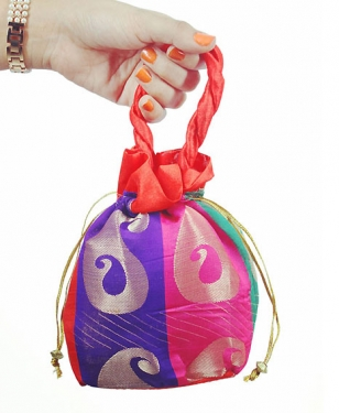 Colorful Brocade Potli Bag