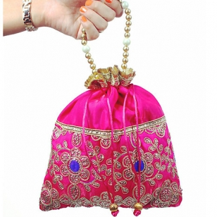 Zari Work Potli Bag
