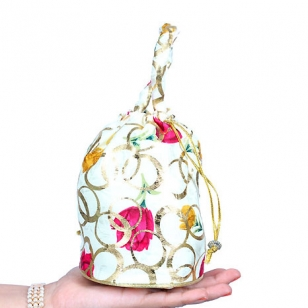 White Potli Bag