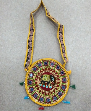 Cotton Embroidery Round Bag