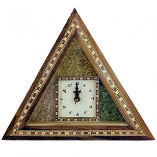 Wood & Gemstone Clock