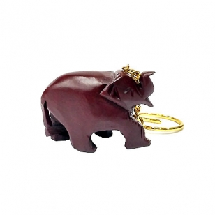 Rosewood Elephant Keychain - Pack of 12pc